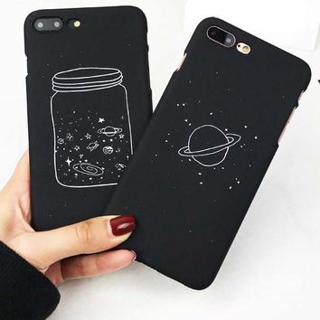 Wishing Bottle Planet Moon Phone Case for iPhone