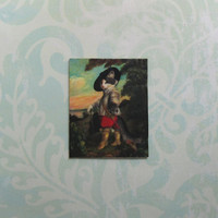 Dollhouse Miniature Puss In Boots Art Print Panel