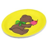 Teddy Bear with Ice Cream Cone Paper Plate