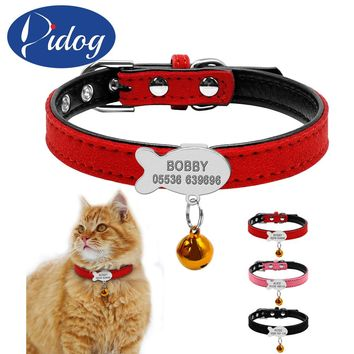Customized Cat Collar Personalized Puppy Small Dogs ID Collars Engraved Name Phone Number Free Engraving For Chihuahua XXS XS S