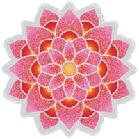 Vagabond Beach - Lotus Love Round Towel | Pink