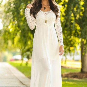 Autumn Romance Maxi Dress