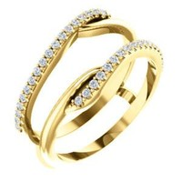 14K Yellow 1/4 CTW Diamond Ring Guard