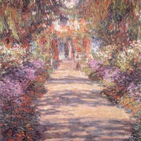 Footpath in the Garden of Giverny by Claude Monet Fine Art Print