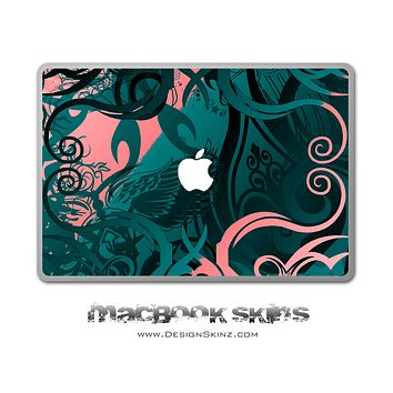 Abstract Swirls MacBook Skin