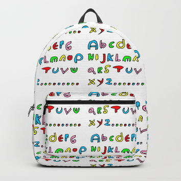 alphabet2-alphabet,letters,child,language,fun,abc,abcdefg,symbols,abecedarium,script,write,writing Backpacks by oldking
