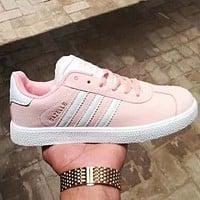 Adidas Fashion Women Men Leisure Sport Running Flat Shoes Sneakers Pink