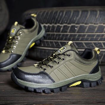 Height Increase Permeable Outdoors Thick Crust Waterproof Hiking Shoes = 6450677059