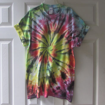Bright and Colorful Unisex Tie Dyed Tee Shirt