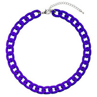 CHUNKY BLUE CHAIN NECKLACE