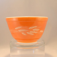 Bowl, Pyrex, Autumn Harvest Mixing Nesting Bowl, Number # 401, Excellent Condition 1980's