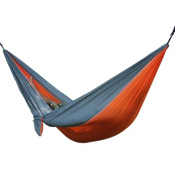 Portable Parachute Hammock for Camping - 2 Person - Gray/Orange