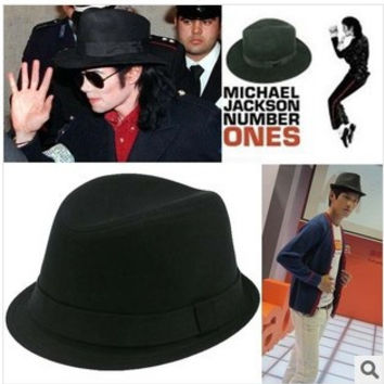 Men Fedora hat round short brim Michael Jason Dance Jazz Hat Camo Bowler Cap for Men 10 colors