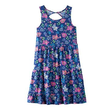 Girls 7-16 & Plus Size SO Twist Back Patterned Skater Dress