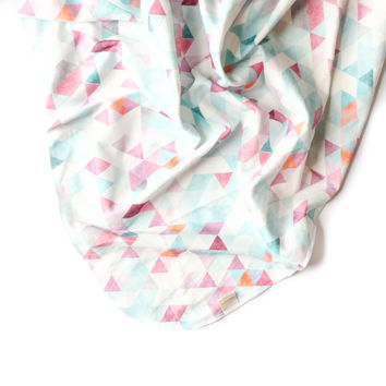 Swaddle Blanket Orchid Watercolor