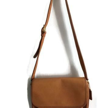 Vintage Coach Bag, Tan Leather Coach, Coach Crossbody, Coach Shoulder Bag