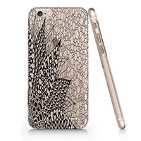 Henna Vintage Floral Slim Iphone 6 Plus Case, Clear Iphone 6 Plus Hard Cover Case (For Apple Iphone 6 4.7 Inch Screen)-Emerishop