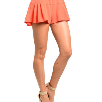 High Waist Flouncy Shorts in Orange