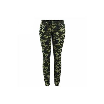 Army Green Skinny Jeans For Women's