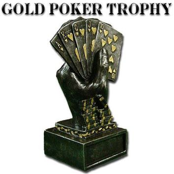 Gold Metal Poker Trophy