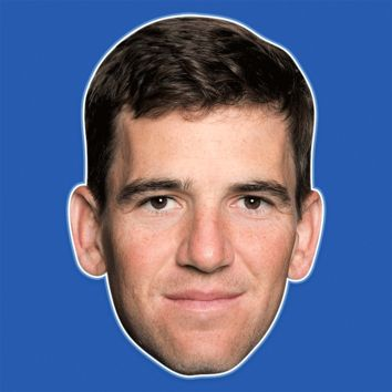 Neutral Eli Manning Mask - Perfect for Halloween, Costume Party Mask, Masquerades, Parties, Festivals, Concerts - Jumbo Size Waterproof Laminated Mask