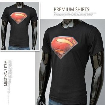 Superman Cotton Short Sleeved T Shirt = 1946703748