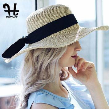 FURTALK 2018 Summer Sun Hat for Women Straw Hat for Beach Sun hat Travel Bucket Hat Panama for Girls Fashion Design