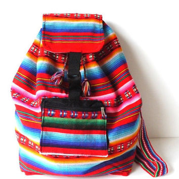 Tribal Fabric Backpack Latin American Peru by sweetllamasupplies