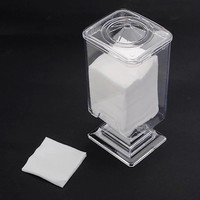 Makeup Cotton Pad Box Clear Nail Art Remover Paper Holder Container Storage Case Transparent Make Up Nail Styling Tools