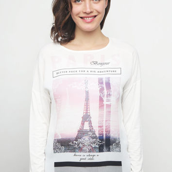 Paris Bonjour Long Sleeve Top