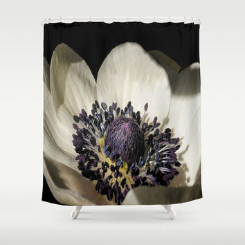 Beautiful Floral Macro Shower Curtain by Colorful Art