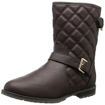 Sporto Womens Judy Faux Leather Quilted Winter Boots