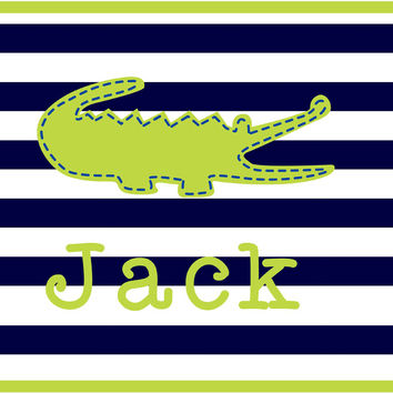 Preppy Gator Personalized Placemat
