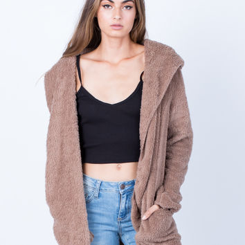 Soft Cozy Hooded Jacket