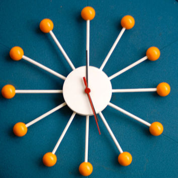 Vintage Style Sun Burst Clock, George Nelson Inspired