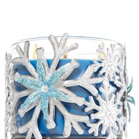 3-Wick Candle Sleeve Gem Snowflakes