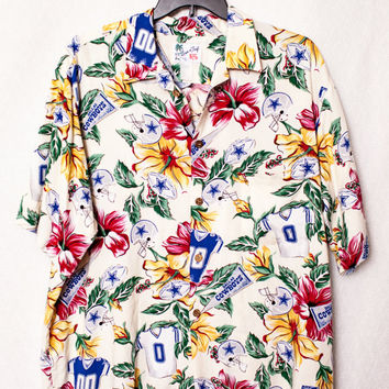Dallas Cowboys Hawaiian Shirt, XL Men's Dallas Cowboy's Hawaiian Shirt, Hawaiian NFL Dallas Cowboys Shirt
