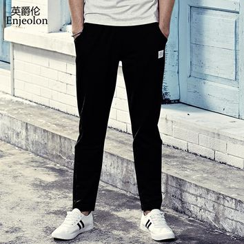 long trousers Black sweatpants men top quality clothing Straight male fashion Causal clothes