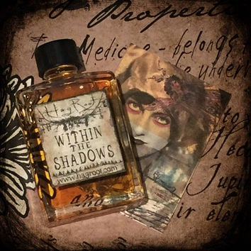 WITHIN THE SHADOWS (Rose, Myrrh, Teak, Patchouli, Clove, Leather, Apple Blossoms, Cinnamon, Ginger) Perfume Oil, Anointing Oil