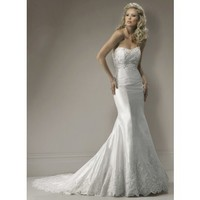 Trumpet / Mermaid Sleeveless Organza Floor-length bridal gown