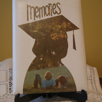 Vintage Graduation Memories Scrapbook, High School Memento, Graduating Seniors, Balfour, 1980s