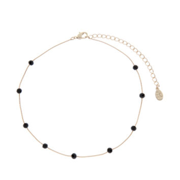 Pretty Jet Stone Choker Necklace | Black | Accessorize