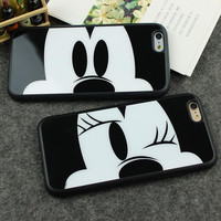Mirror Case For Apple iPhone 6 6S 4.7''/ 6 Plus 5.5'' 5 5S SE Capa Sweetheart Mickey Minnie Mouse Silicone Phone Cover Shell