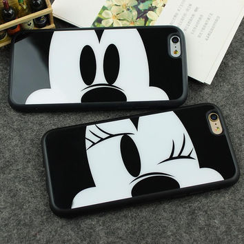Sweetheart Mickey Minnie Mouse Silicone Phone Cover Shell