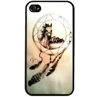 Horse dreamcatcher iphone 5c case, art iphone 5s case, iphone 5 cover, dreams iphone