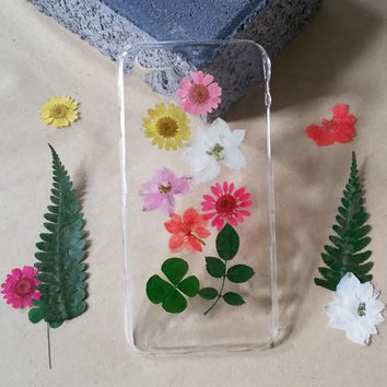 pressed Flower iphone 6 plus phone case iPhone 5s Case clear iPhone 5c Case clear iphone 4s Case iphone 5 case pressed flower iphone case