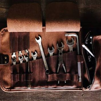 Handcrafted Leather Tool Roll