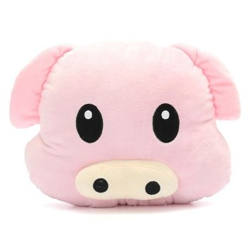 New Arrival Pig Piggy Emoji Pillow Pink Emoticon Pillow Cushion Plush Toy Stuffed Doll Gift Doll Hold Pillow Stuffed Toy