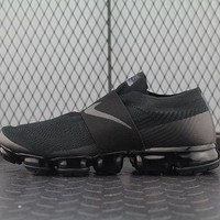 PEAP8KY Nike Air Max Vapor Max Laceless For Women Men Running Sport Casual Shoes Sneakers Black