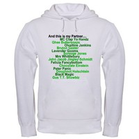 Psych, Gus Nicknames Hoodie on CafePress.com